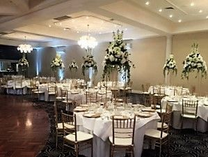 Loving these centrepieces complimented beautifully by the gold Tiffany Chairs.  Elegance at its best supplied by AMG weddings.
