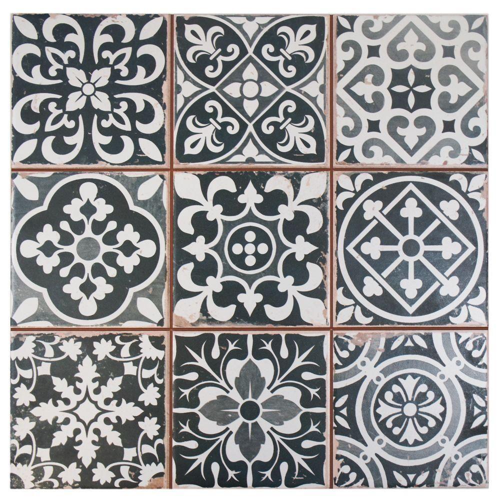 Merola tile faenza nero 13 in x 13 in ceramic floor and wall tile merola tile faenza nero 13 in x 13 in ceramic floor and wall tile dailygadgetfo Gallery