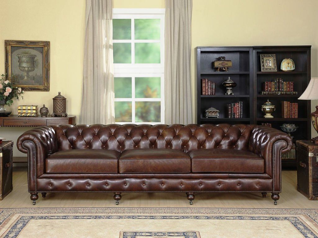 Leather Sofa Paint Kit Leather Chesterfield Sofa Vintage