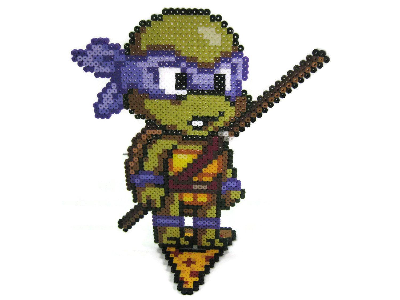 Teenage Mutant Ninja Turtles Perler Bead Sprite Character Figure by ...