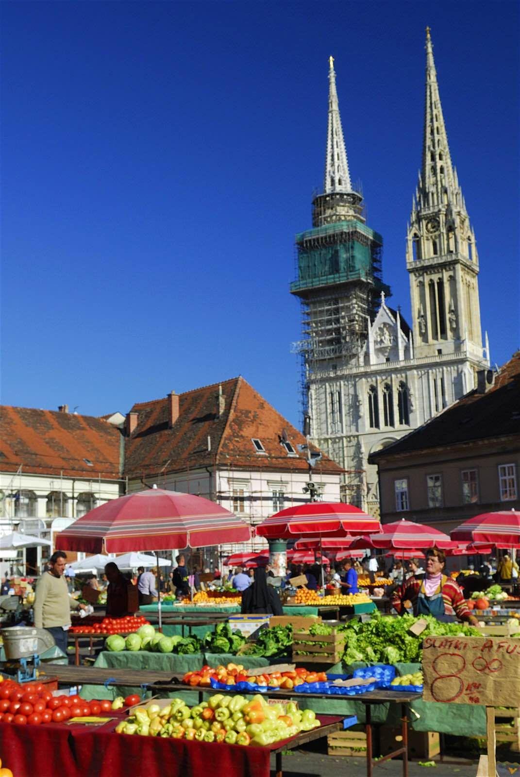 Dolac Market Zagreb Croatia Zagreb Zagreb Croatia Croatia