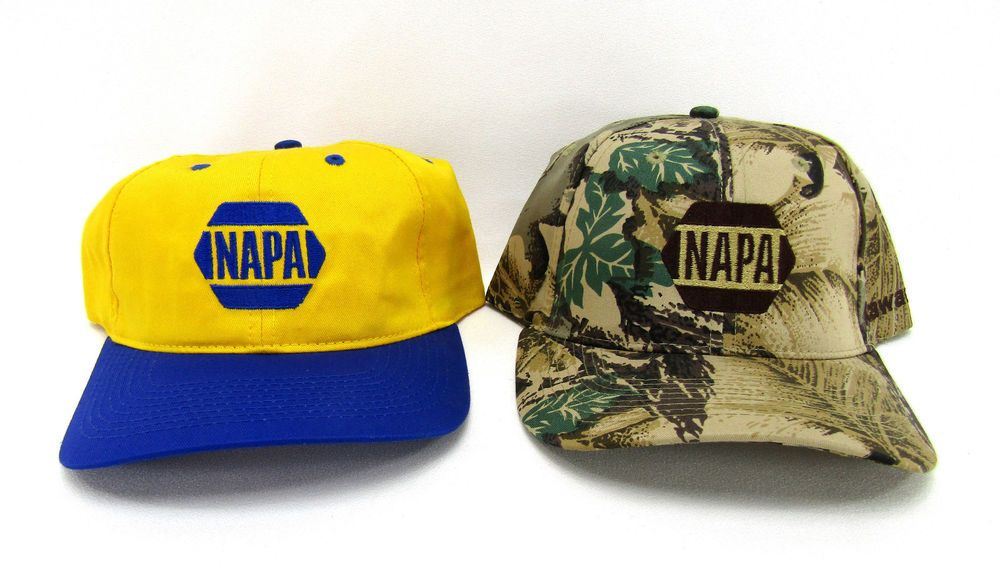 852511eda19 New NAPA Auto Parts Advertising Hat LOT Kawasaki Camo vtg Trucker snapback  cap  fashion