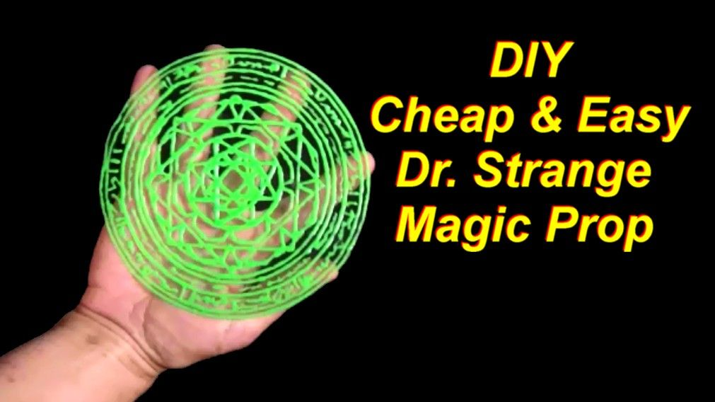 Cheap and Easy DIY Dr. Strange Costume: Magic Circle Prop