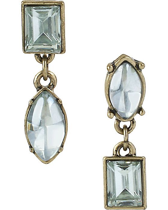 MINT 2 STONE DROP EARRING MINT accessories jewelry earrings fashion