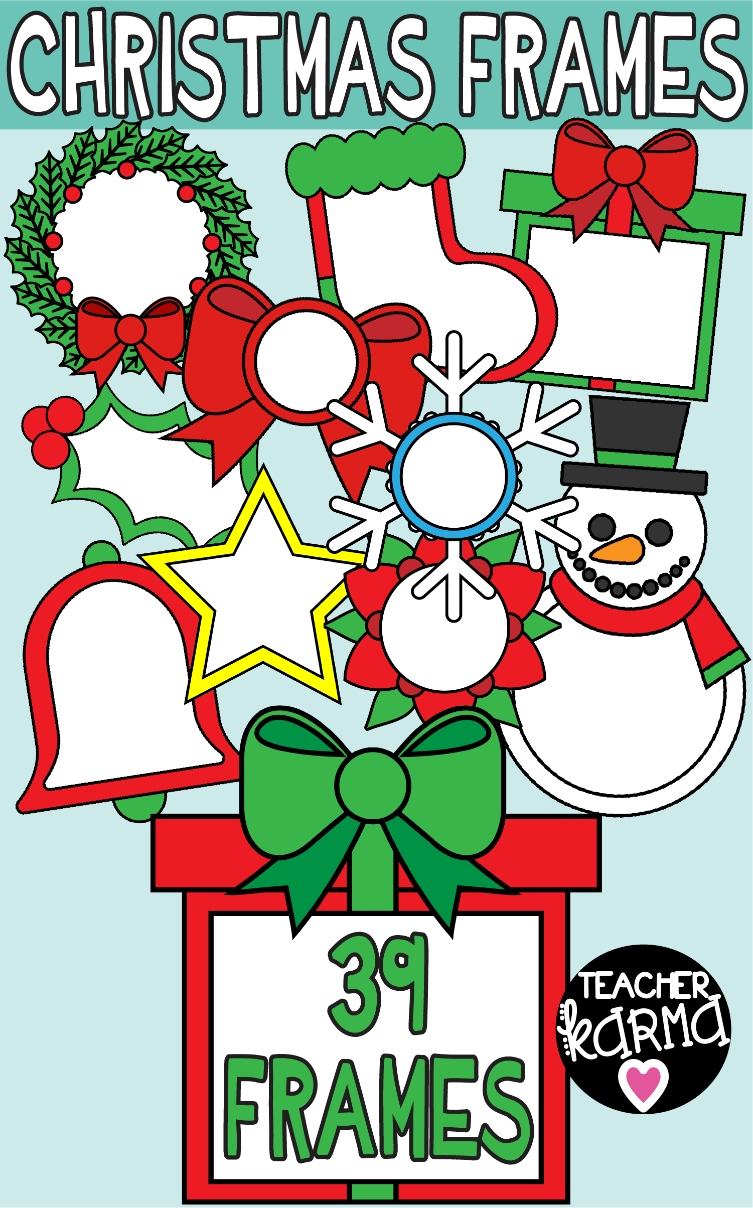 christmas frames clipart is perfect for your holiday resources these graphics work for tpt sellers [ 1501 x 2408 Pixel ]