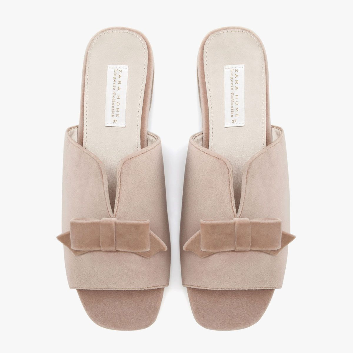 ee444780e3 Image 3 of the product SLIPPERS WITH BOW ON INSTEP | slippers ...