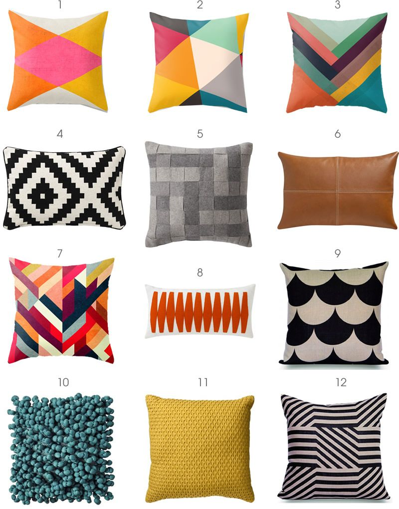 modern pillows  some of these are great i like the scallops and  - modern pillows  some of these are great i like the scallops and thegeometric