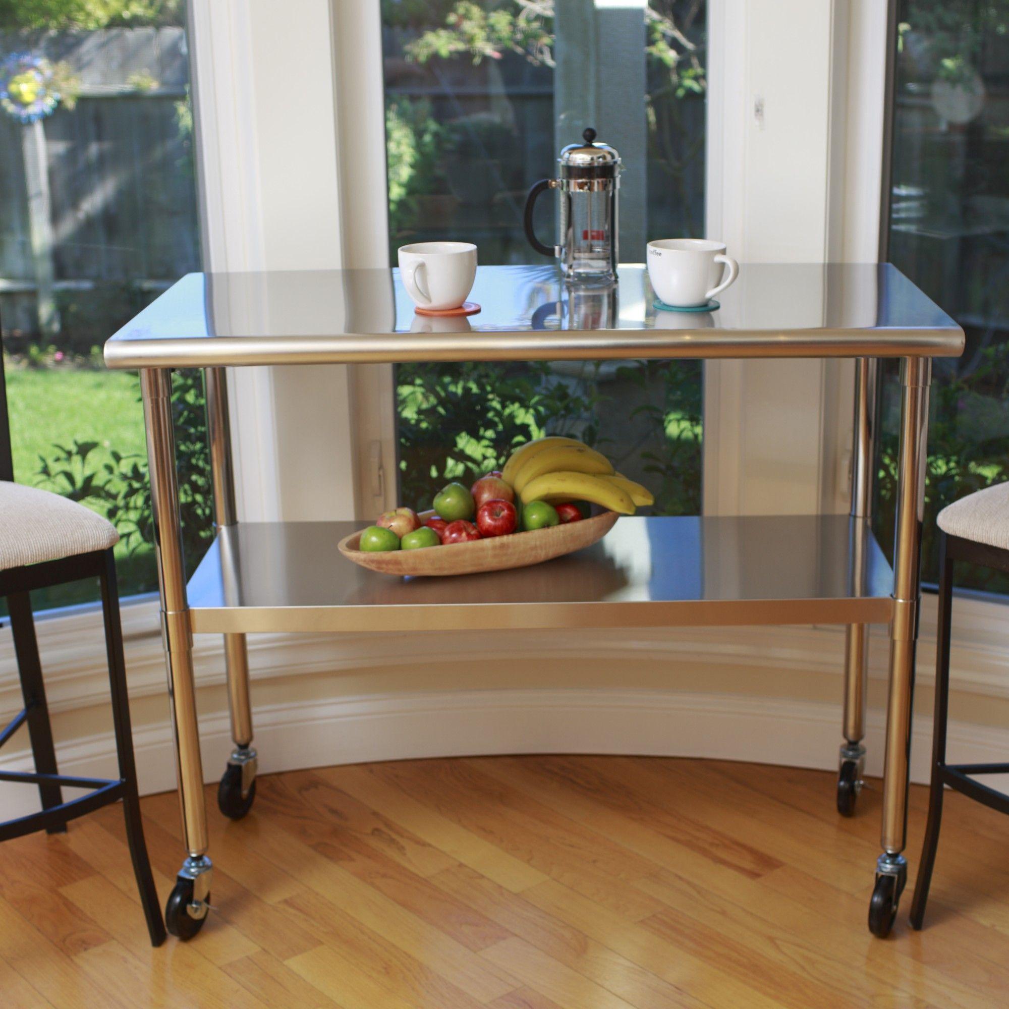 trinity ecostorage prep table  kitchen island storage