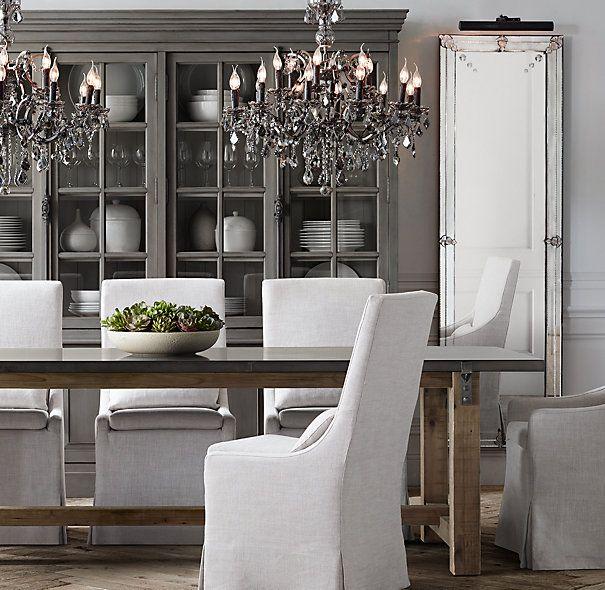 Reclaimed Wood  ZincTop Strap Rectangular Dining Table SB - Zinc dining room table