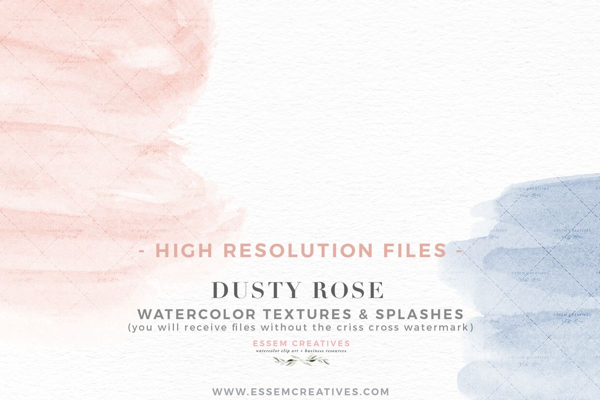 Dusty Rose Dusty Blue Watercolor Splash Textures Background Png