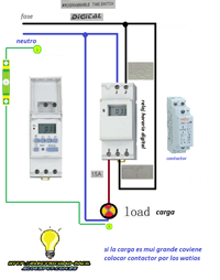 d90bdc5bdb43 Esquemas eléctricos  reloj horario digital programable