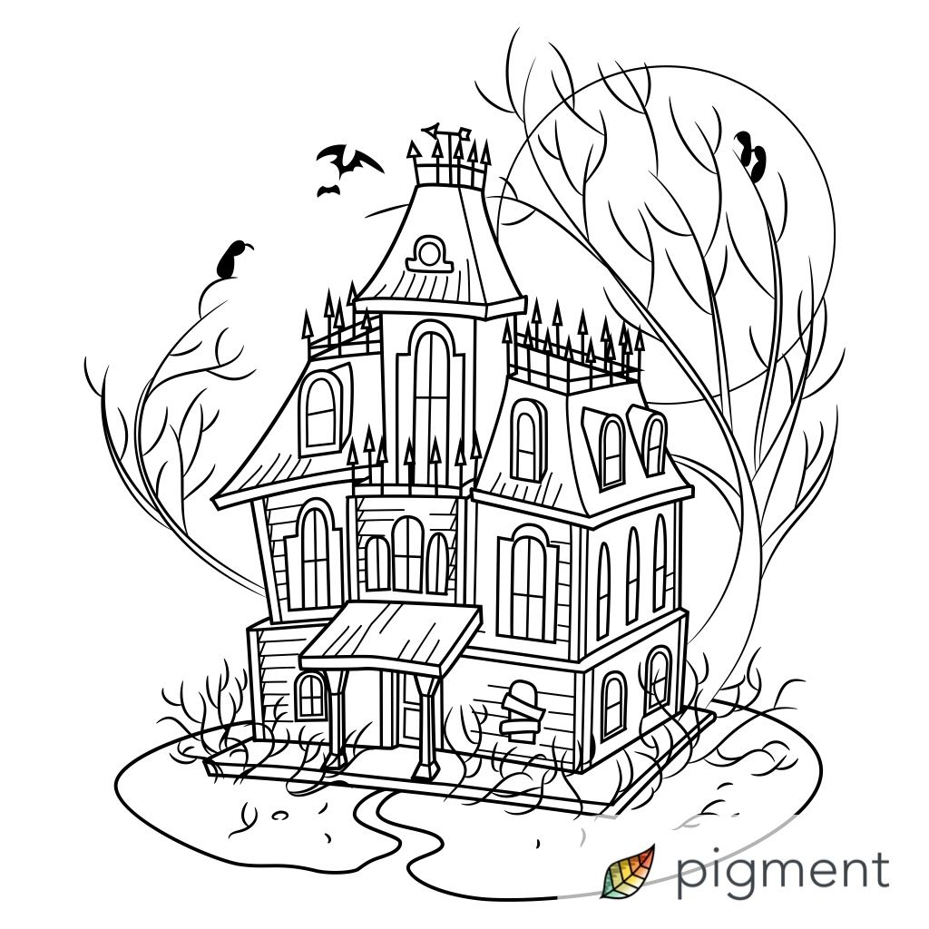 Just colored this in Pigment! | garden coloring | Pinterest