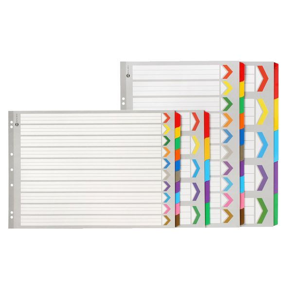 Office works Marbig Board Landscape Dividers A3 10 Tab image