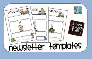 Reflections Of An Early Childhood Teacher New Newsletter Templates - August newsletter template