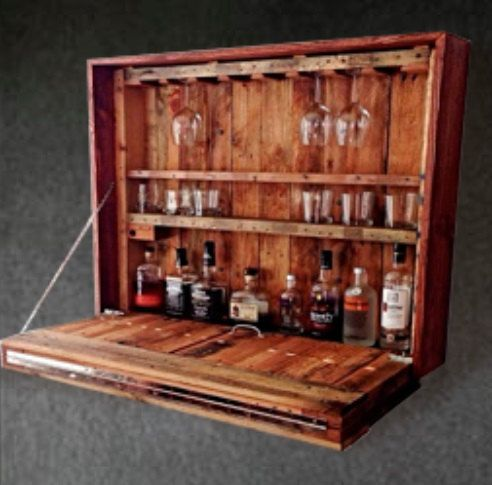 Rustic Home Wine Barrecycled Pallet Wood By Paradiseoffurniture