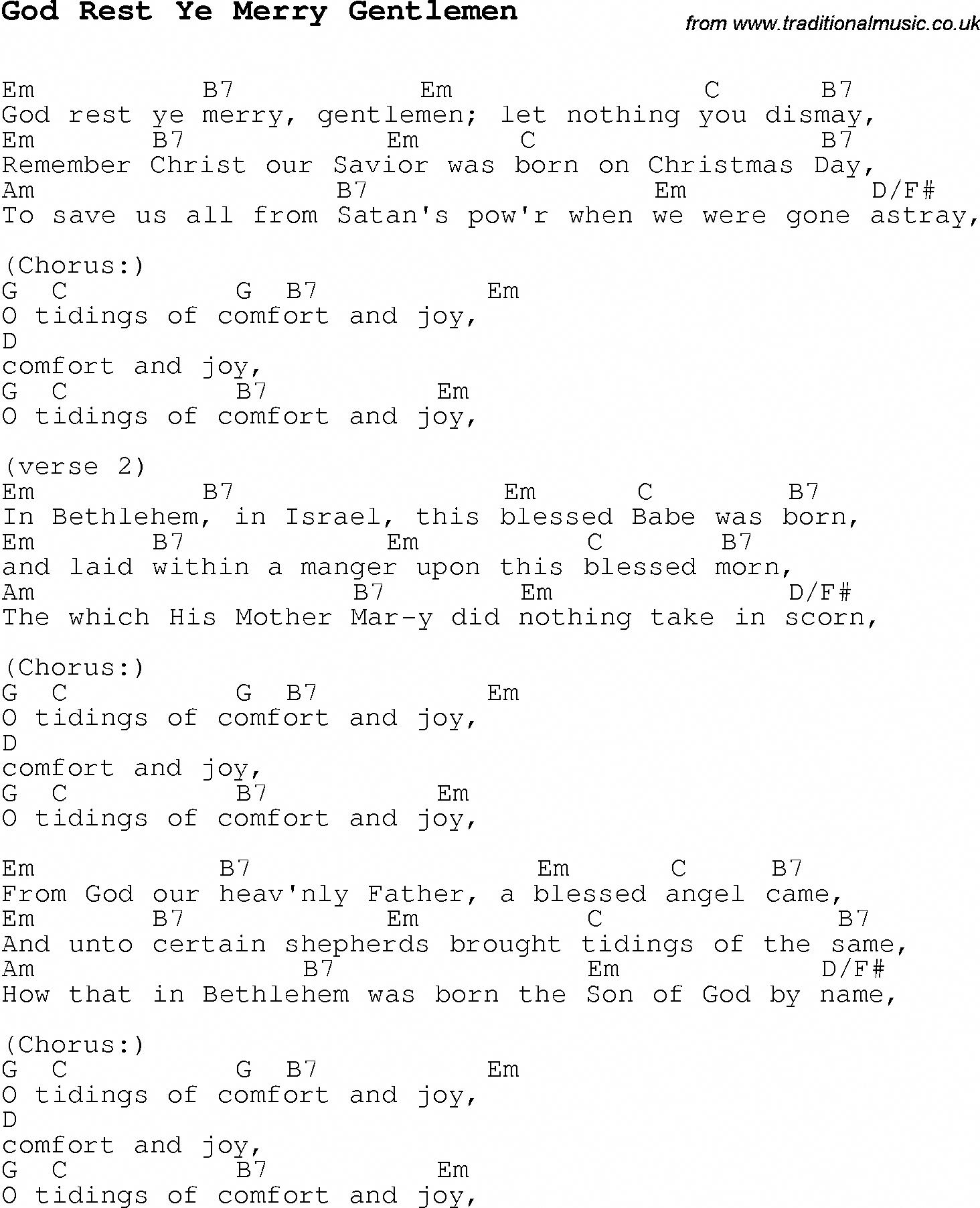 Christmas Songs And Carols Lyrics With Chords For Guitar Banjo For God Rest Ye Merry Gentlemen Ukulele Christmas Carols Songs Christmas Ukulele Ukelele Songs