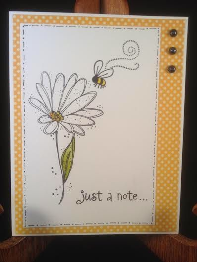 Daisy and Bee Just a Note Card.