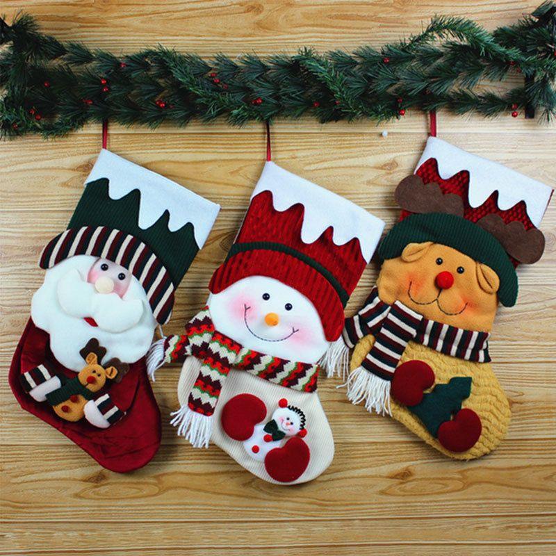 878e8581ecd 8.05AUD - 3D Santa Claus Snowman Stocking Christmas Xmas Gift Sock Designed  Candy Bag  ebay  Home   Garden
