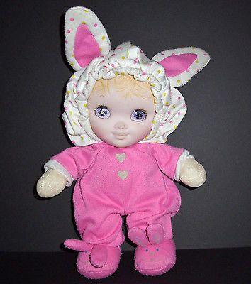 Vintage 1986 Playskool Jammie Pies Doll Pink Bunny Ears Feet Stuffed Animal Toy Pet Toys Middleton Dolls Dolls