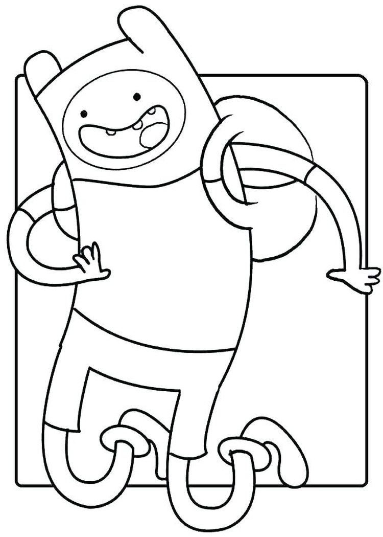Adventure Time Coloring Pages Printable Cartoon Coloring Pages