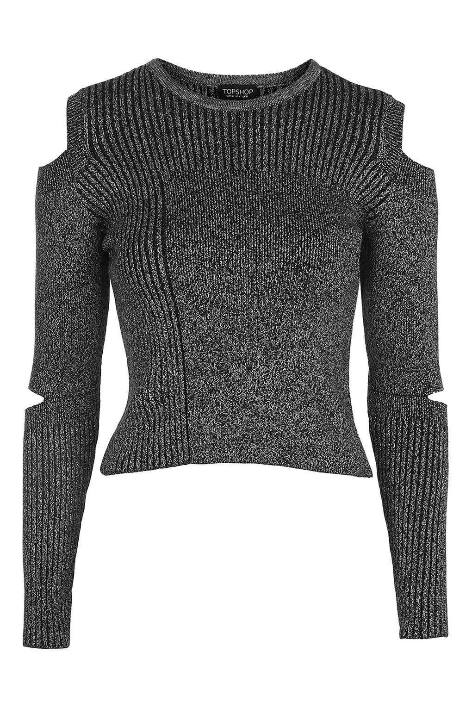 Slash Marl Crop Top - Sweaters & Knits - Clothing | Topshop ...