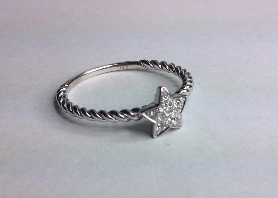 Bilkey & Co. 18ct white gold and diamond star ring http://www.facebook.com/BilkeyJewellers