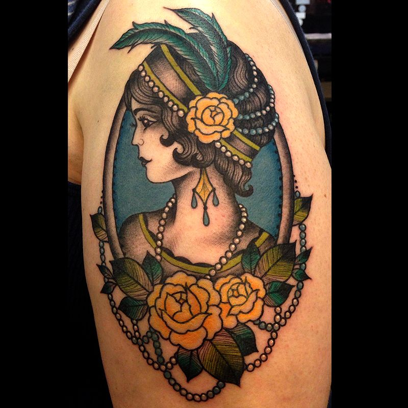 Pin By Laura Kuley On Tattoo: Laura Graham, Grizzly Tattoo, Portland. Stylized Portraits