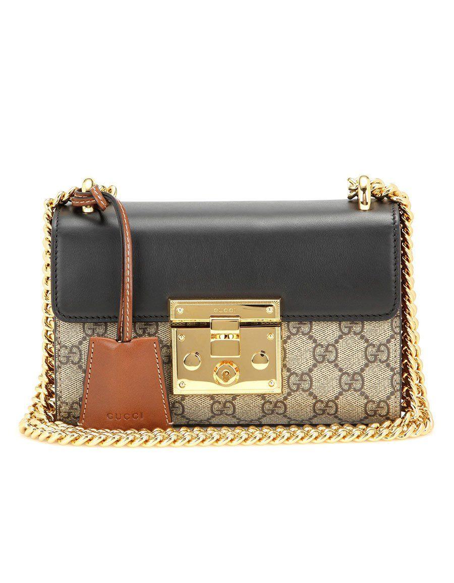 f51bd0d0 GUCCI Padlock GG Supreme leather and coated canvas shoulder bag · VERGLE