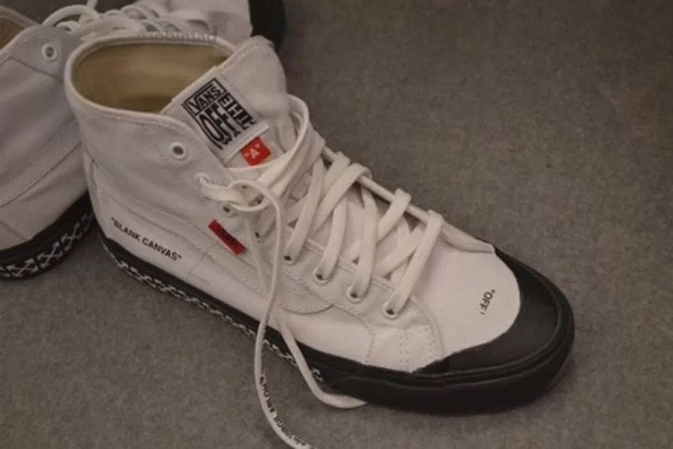 8c89e3b9f Off-White™ Vans Collaboration Virgil Abloh Black Ball Hi Leaked Images