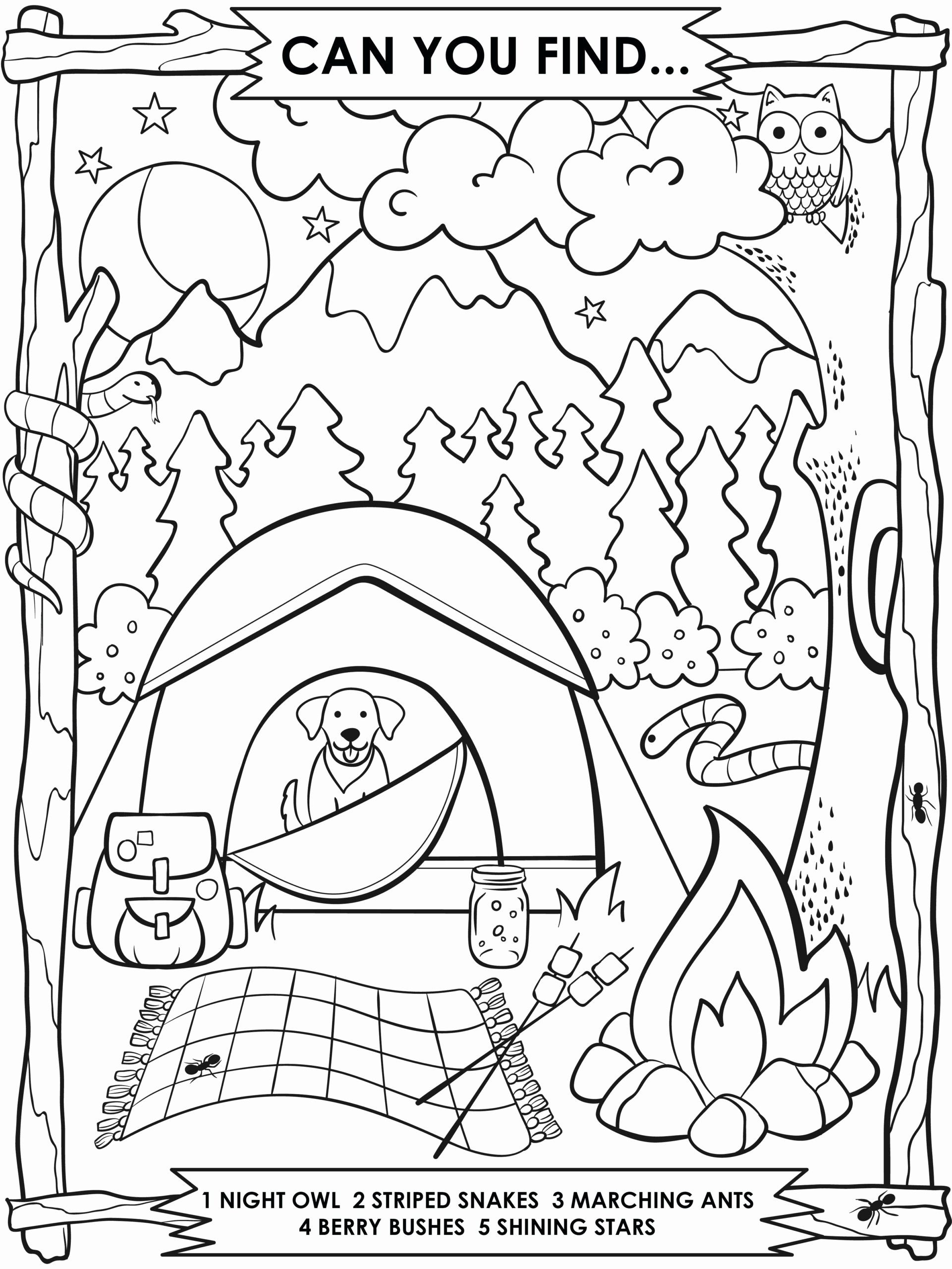 Summer Safety Coloring Page In With Images