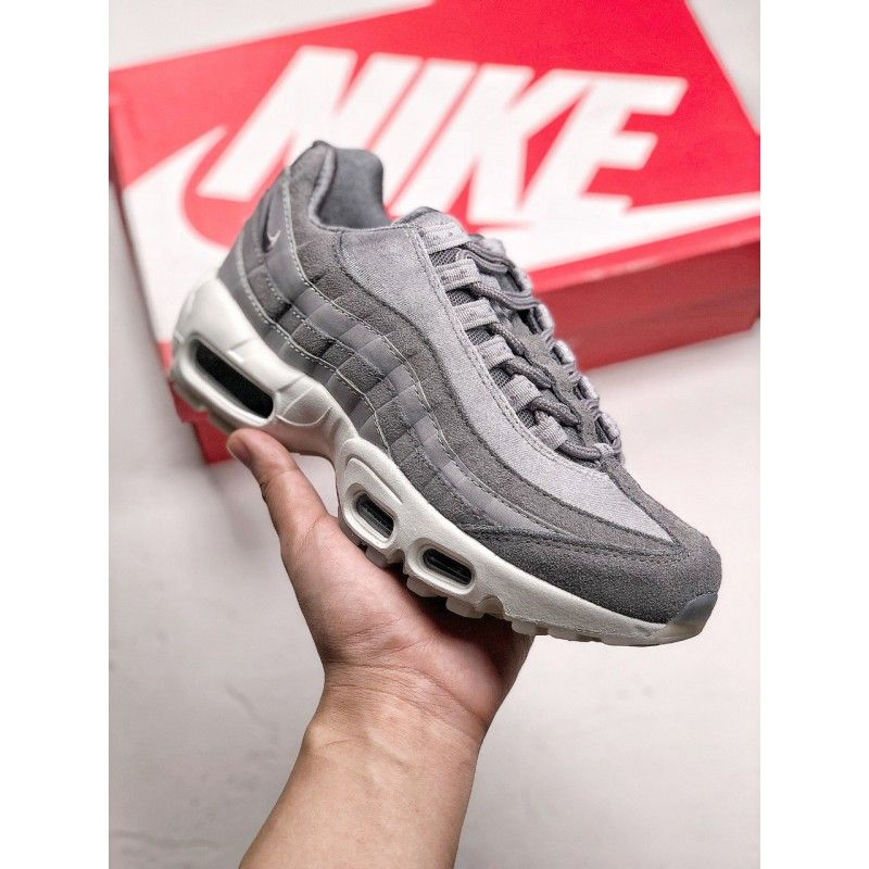 best sneakers 0bcfe c1429  91.79 Gray And White Air Max,1131M-390600 NIKE AIR MAX 95 Simple and