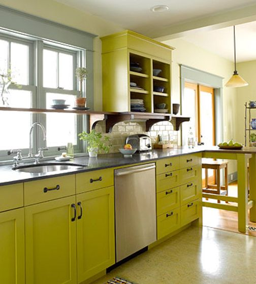 Color Crush Chartreuse Painting Kitchen Cabinets Kitchen