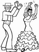 Dibujos Colorear De Bailes Y Danzas En 2019 Flamenco