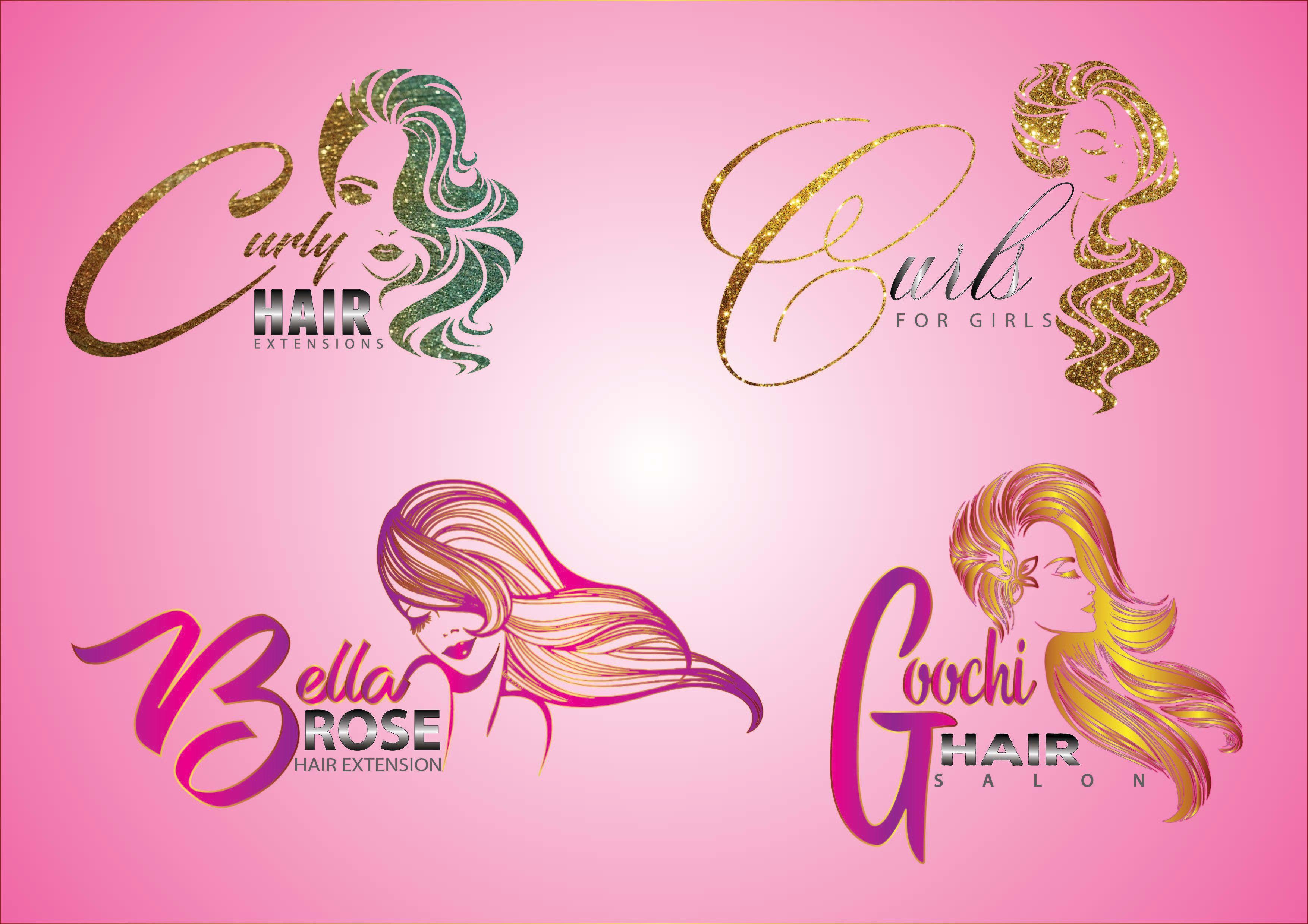 Do hair extension and barber salon logo Salon logo, Hair