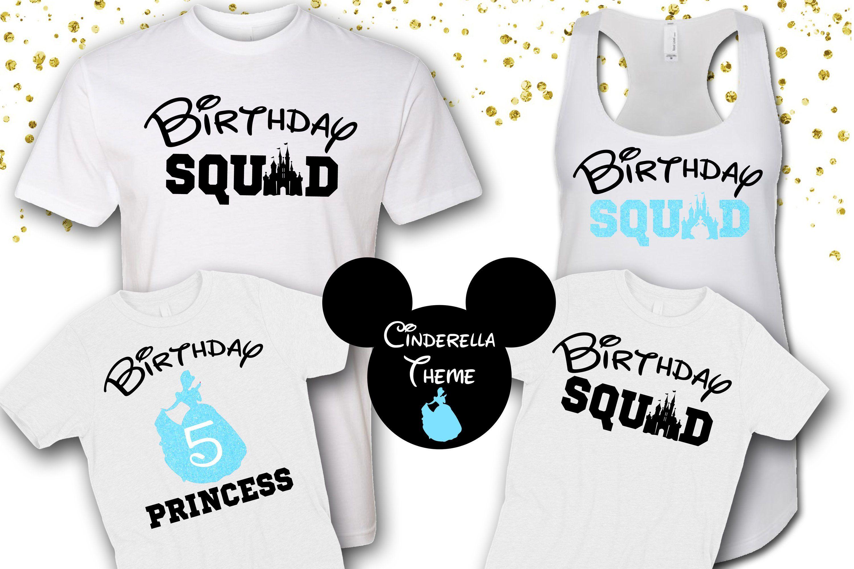Birthday Squad ShirtsDisney SquadCinderella ShirtsCinderella ThemeDisney Family Shirts By OhMyPoshGifts On Etsy