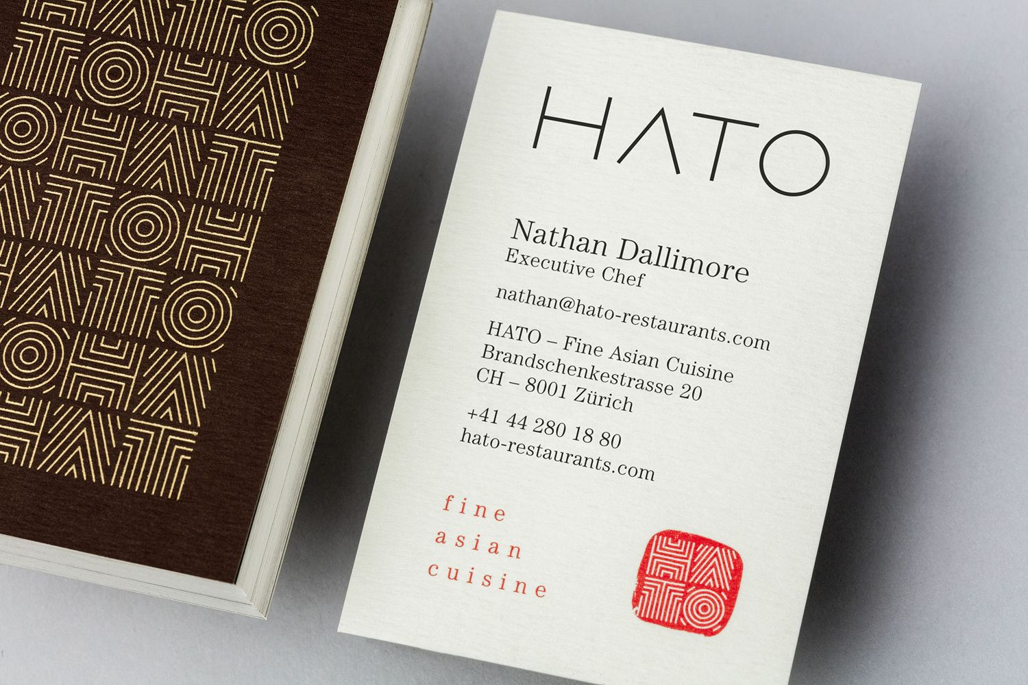 New brand identity for hato by allink bpo bpo pinterest brand identity and business cards for fine dining asian restaurant hato designed by allink switzerland colourmoves