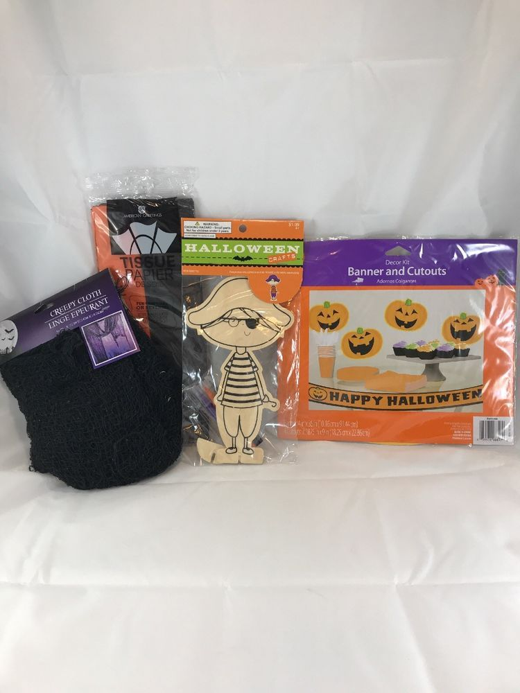 Halloween Party Decorations Lot 4 items Kids in 2018 Party Items