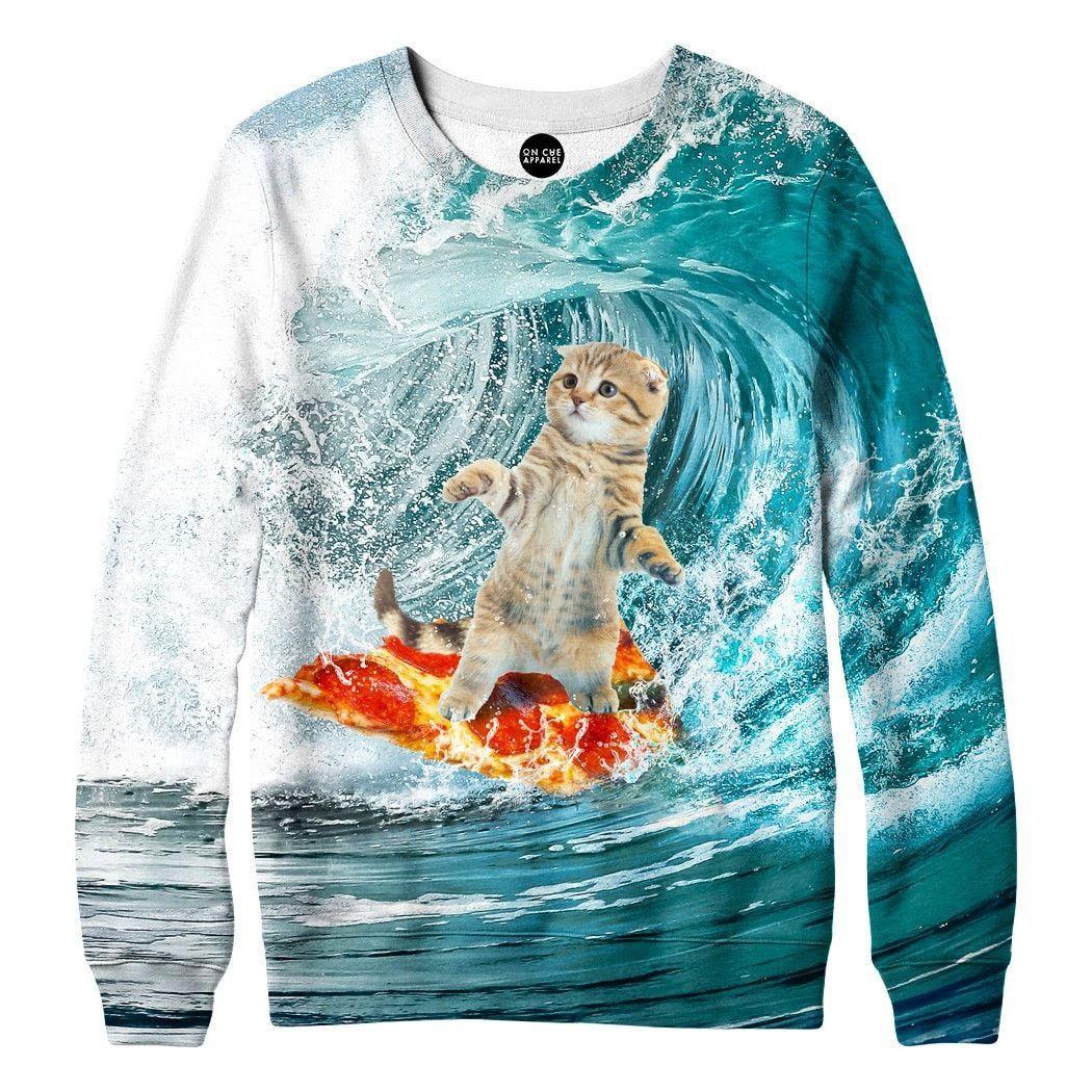 Surfing Kittie Sweatshirt