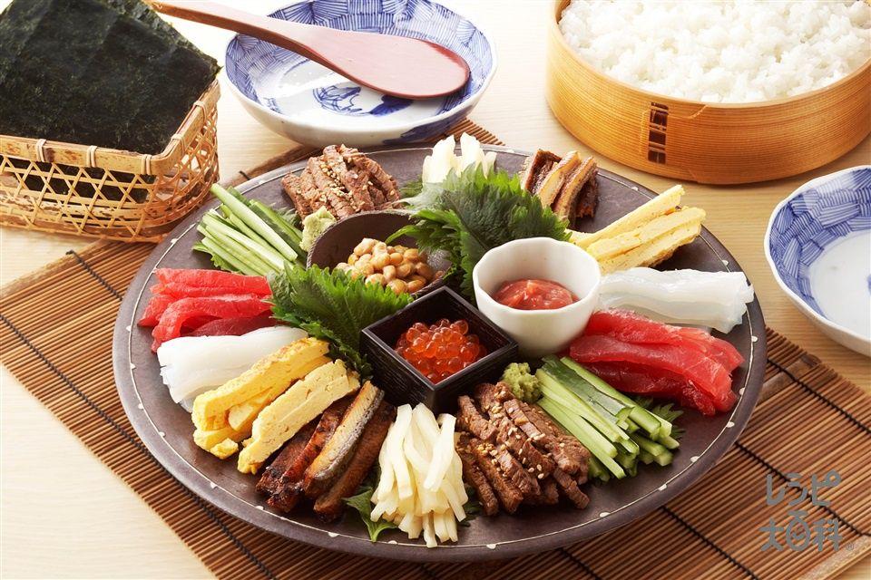 手巻き寿司 レシピ 手巻き寿司 パーティー 手巻き寿司 レシピ