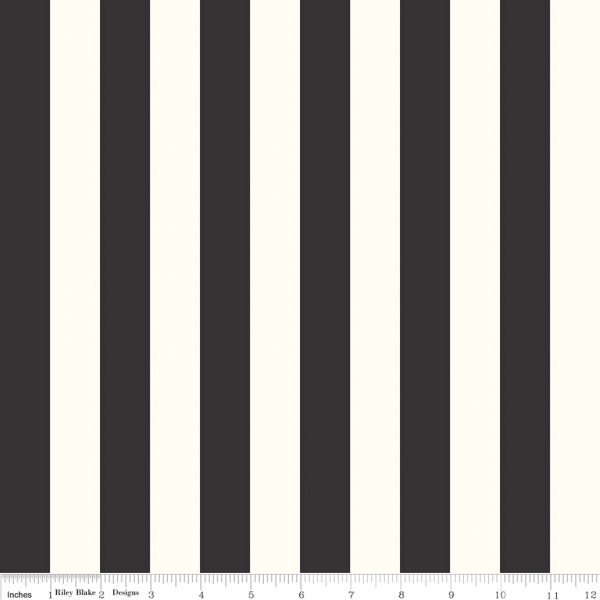 1 Stripe On Cream Black Width 112cm 42 44 Priced By The Metre And Sold In 25cm Increments Black White Stripes White Stripe Fabric Kit