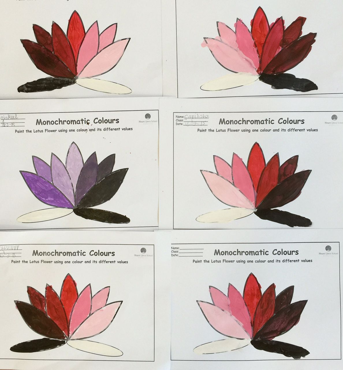 Lotus Colour Values
