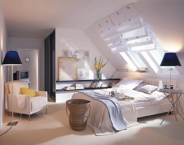Räume mit Dachschrägen - die besten Wohntipps: Wandflächen mit ...