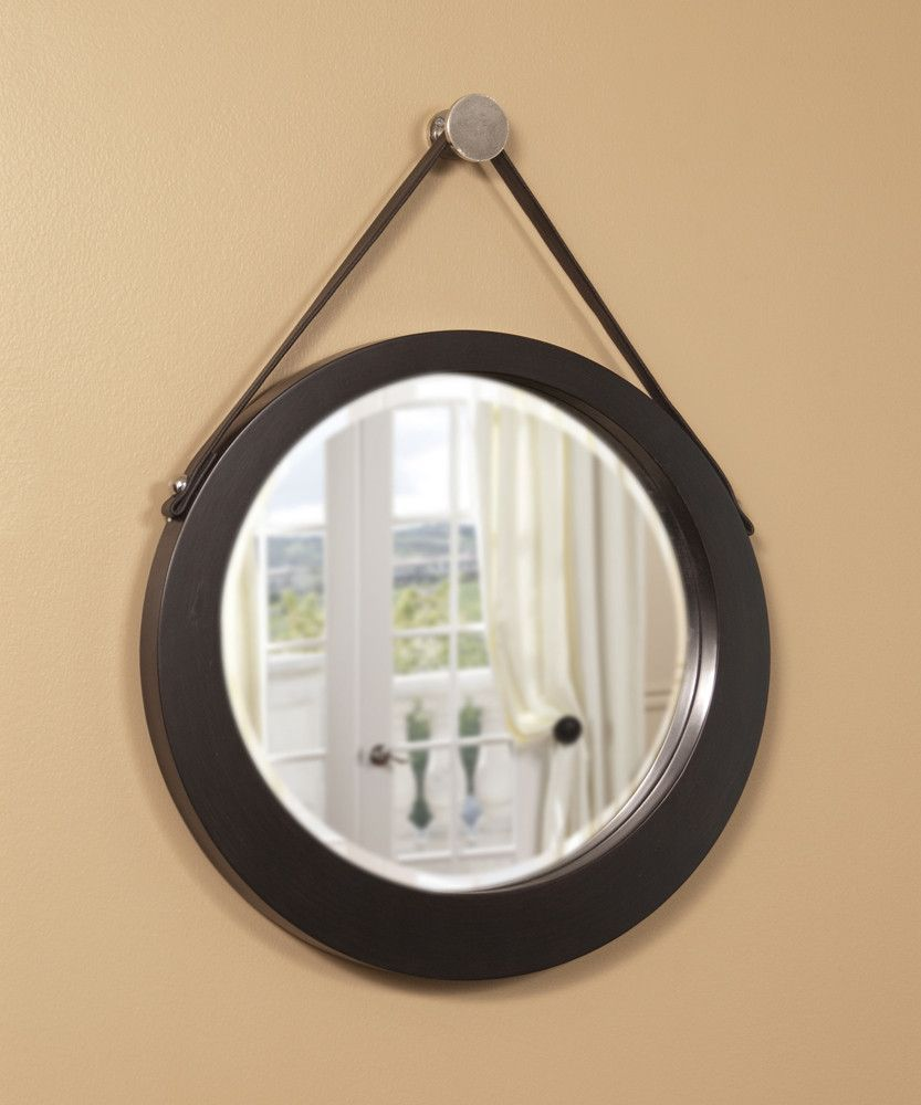 Large Hanging Mirror With Strap