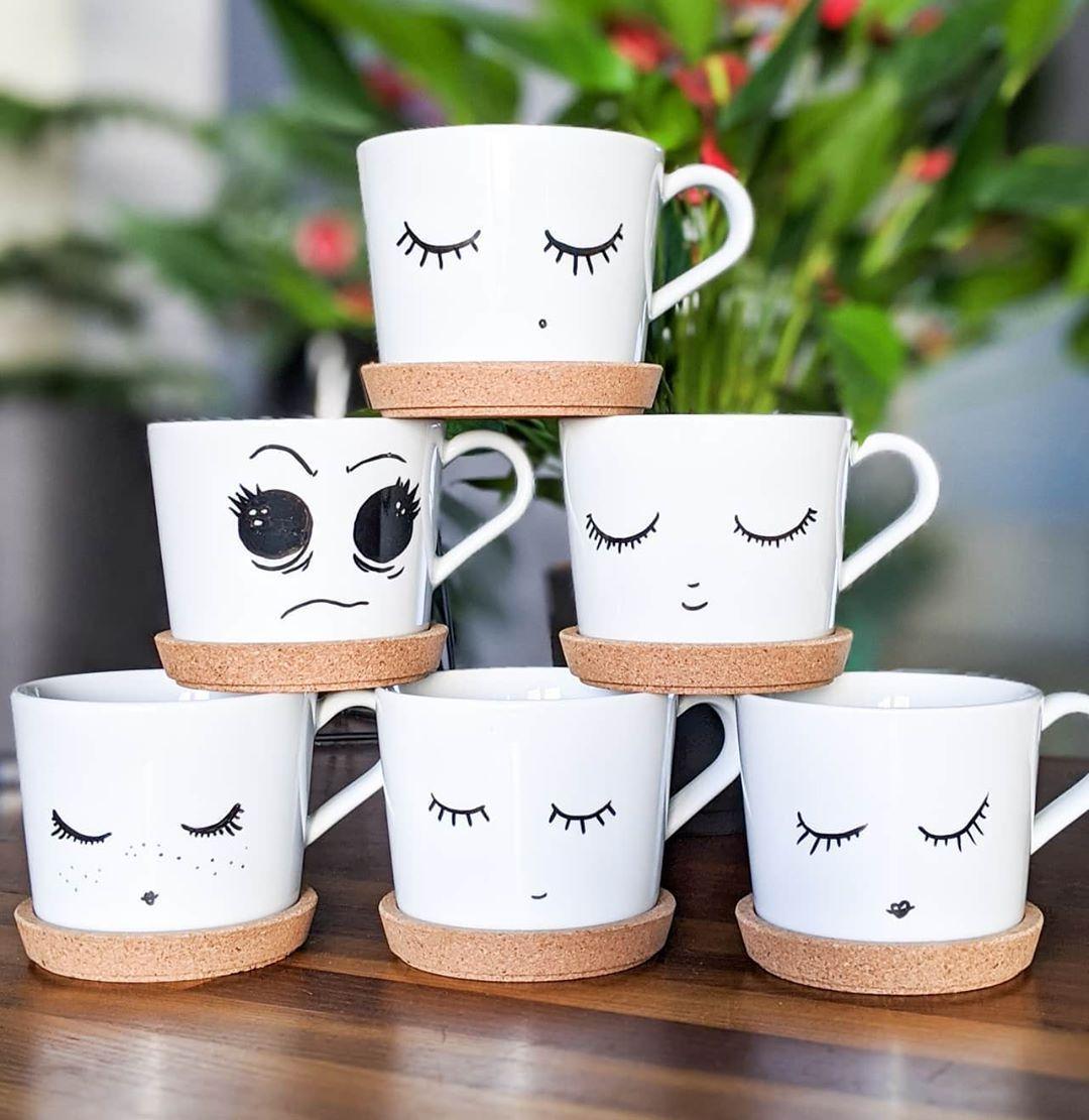 Porzellan Selbstbemalten Tassen Wimpern Augen Porcelainpainting Porzellanmalerei Becher Bemalen Müde Porzellanmalerei Instagram Du Fehlst Mir