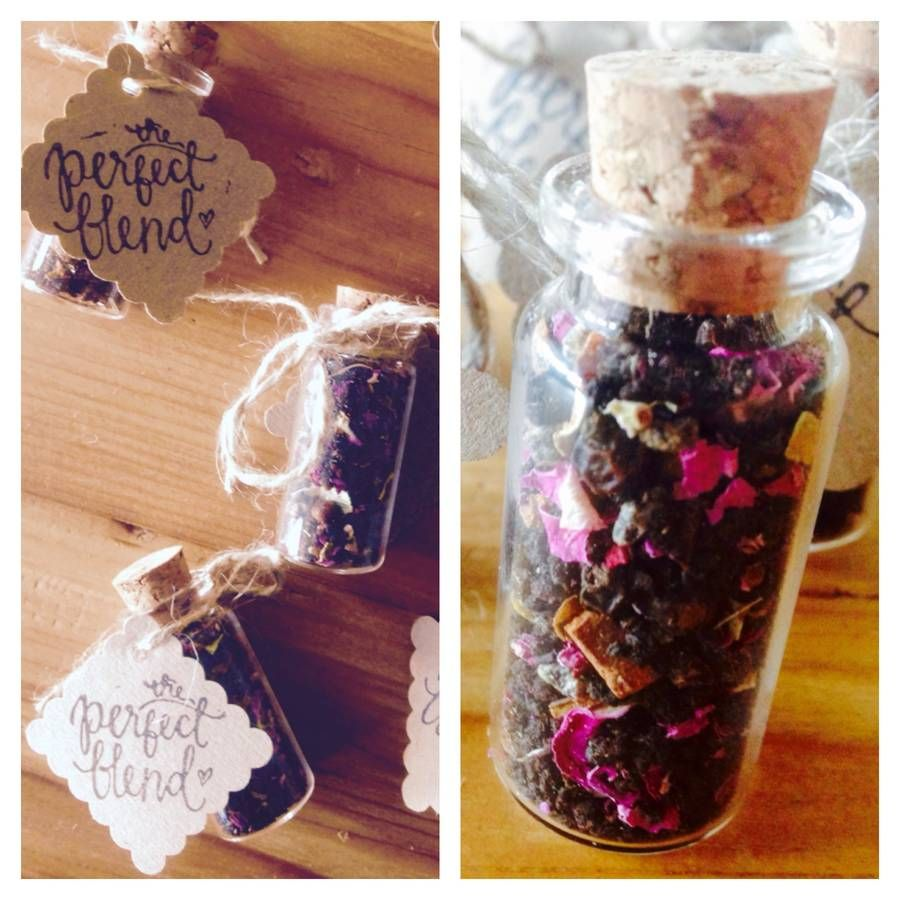 Cute Wedding Favour Tea In Glass Bottle With Cork Wedding Favors