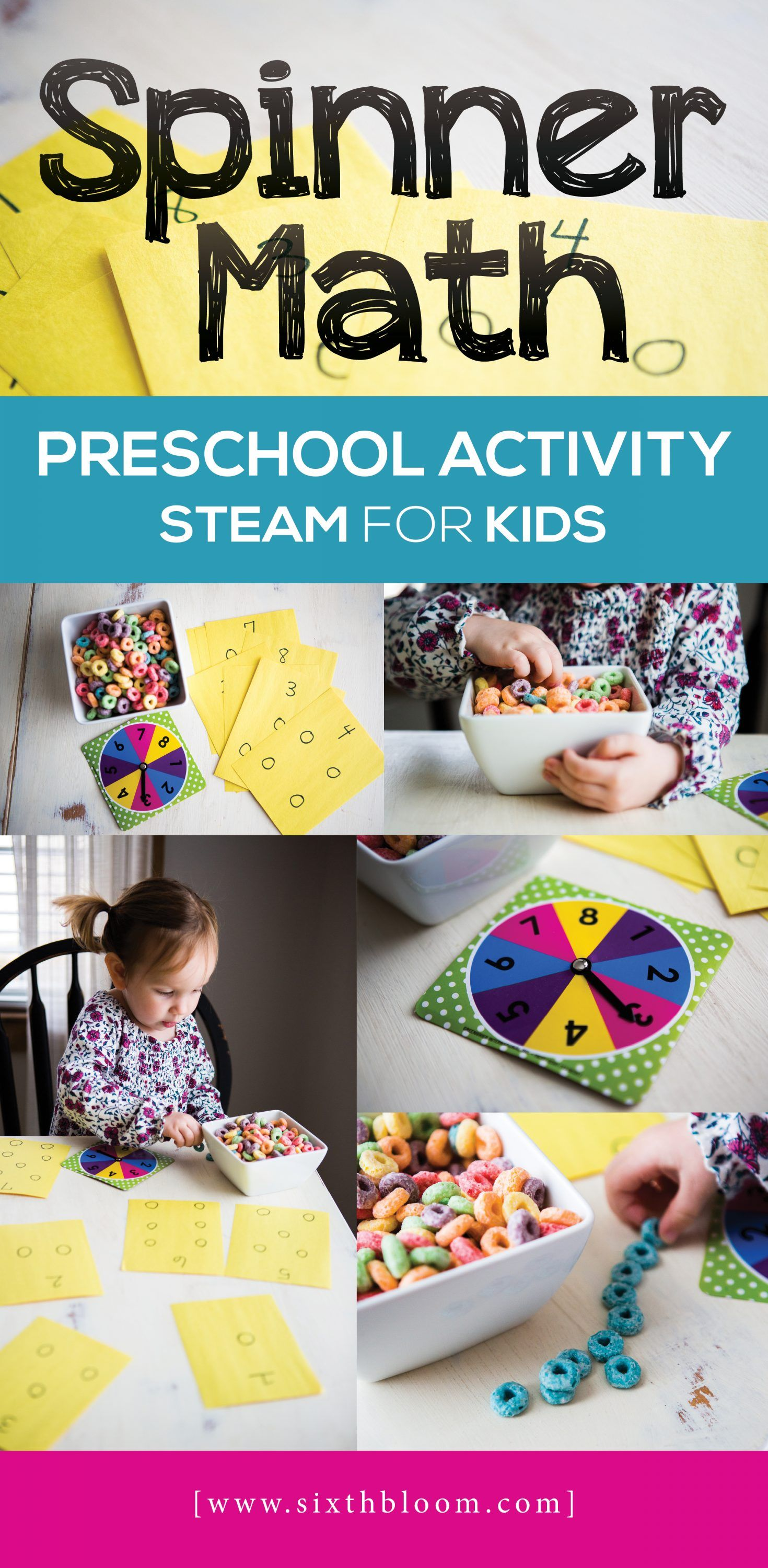 Spinner Math Math Activities Preschool Stem Activities