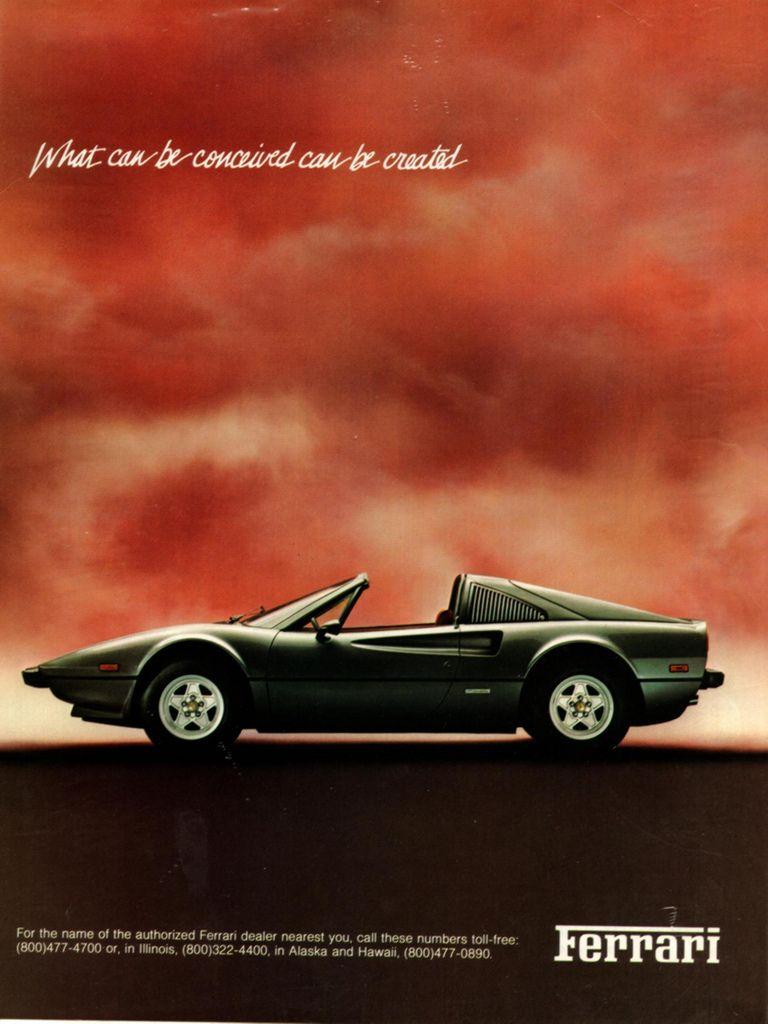 Vintage Ferrari Ad 1981 Vintage Sports Cars Ferrari Ferrari Poster