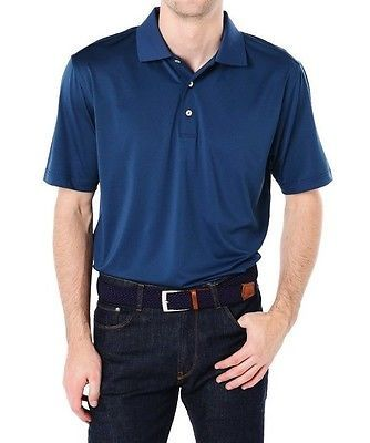 16ee506d4365 Peter Millar Summer Comfort NEW Blue Mens Small S Polo Rugby Shirt  89  643  DEAL