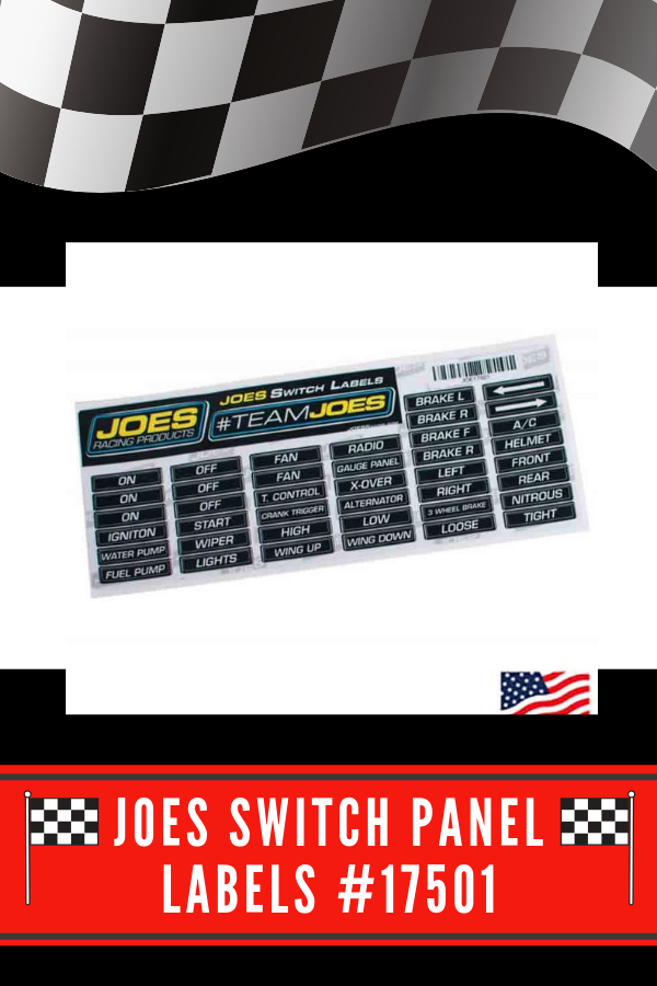 Joes Switch Panel Labels Will Help You Organize Your Switches 40 Different Labels Are Included Tha Late Model Racing Different Types Of Races Dirt Late Models