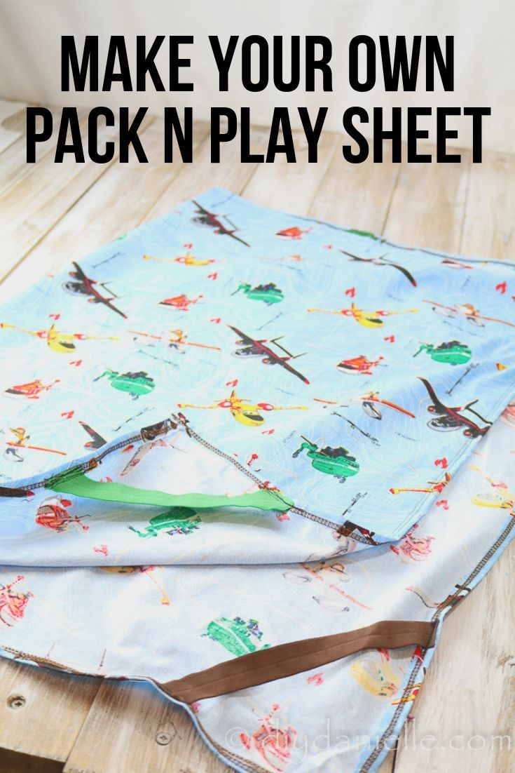 How to Sew a Pack N Play Sheet Sewing projects, Baby